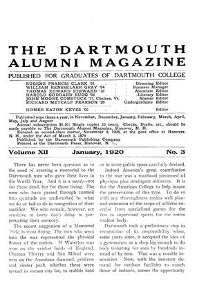 Cover for the January 1920 issue