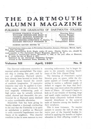 Cover for the April 1920 issue