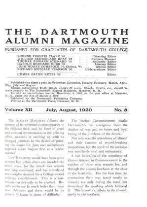 Cover for the July 1920 issue