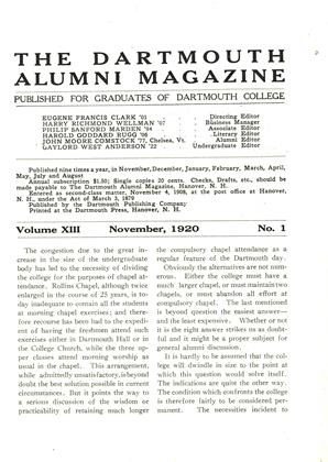 Cover for the November 1920 issue