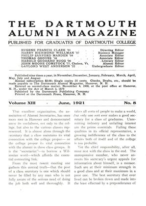 Cover for the June 1921 issue