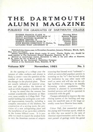 Cover for the November 1921 issue