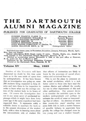 Cover for the May 1923 issue