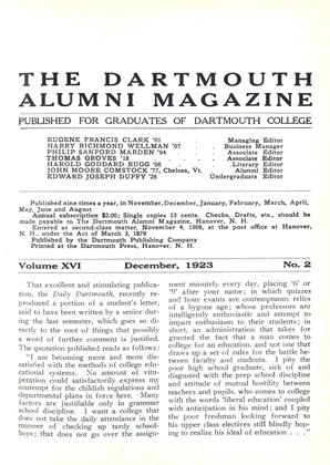 Cover for the December 1923 issue