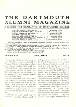 Cover for the June 1924 issue