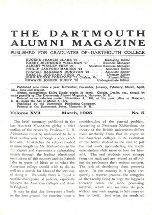 Cover for the March 1925 issue