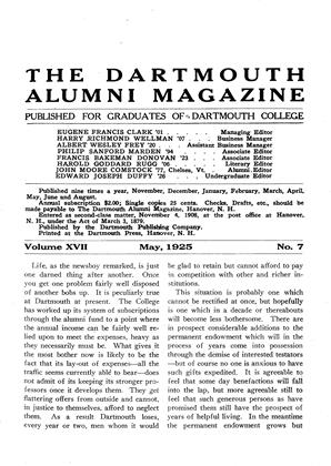 Cover for the May 1925 issue