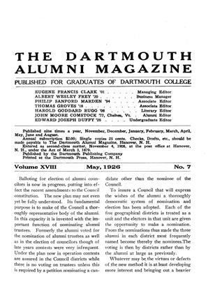 Cover for the May 1926 issue
