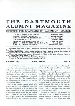 Cover for the June 1926 issue