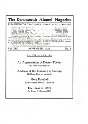 Cover for the November 1926 issue