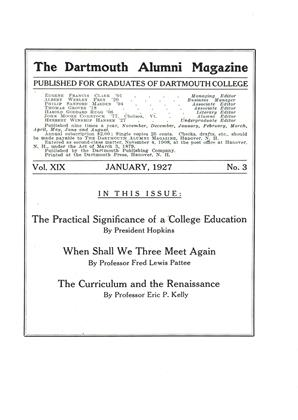 Cover for the January 1927 issue