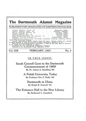 Cover for the February 1927 issue