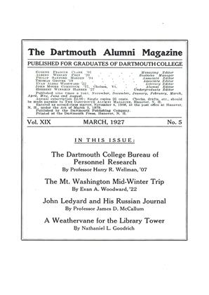 Cover for the March 1927 issue