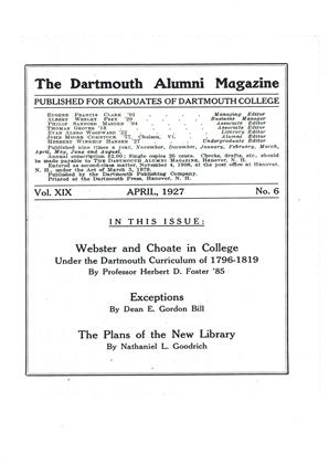 Cover for the April 1927 issue