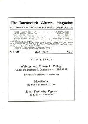 Cover for the May 1927 issue