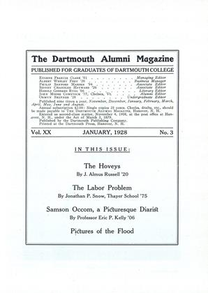Cover for the January 1928 issue