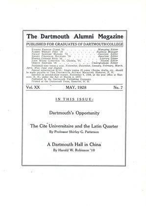 Cover for the May 1928 issue
