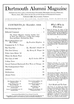 Cover for the November 1928 issue