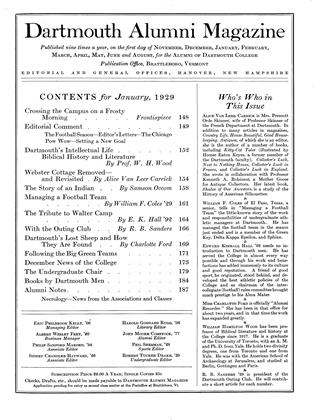 Cover for the January 1929 issue