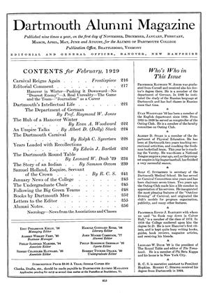 Cover for the February 1929 issue