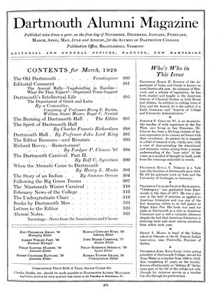 Cover for the March 1929 issue