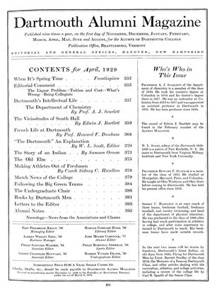 Cover for the April 1929 issue