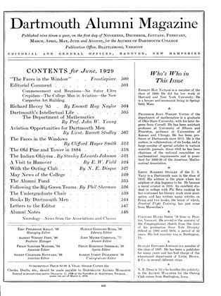 Cover for the June 1929 issue