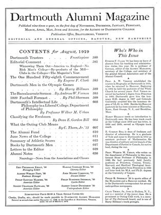 Cover for the August 1929 issue
