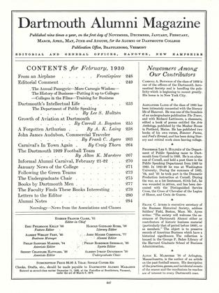 Cover for the February 1930 issue