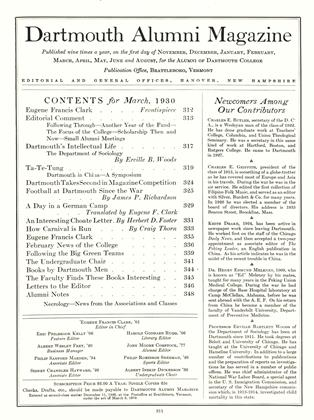 Cover for the March 1930 issue