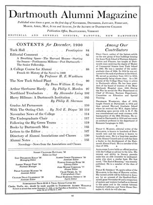 Cover for the December 1930 issue
