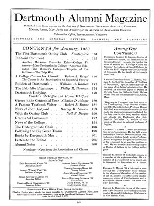 Cover for the January 1931 issue