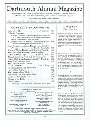Cover for the February 1931 issue
