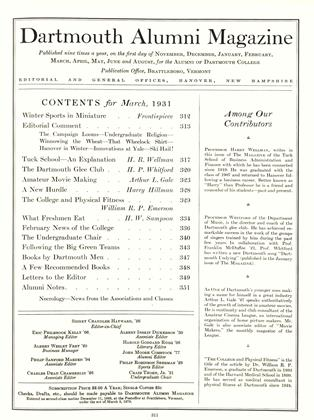 Cover for the March 1931 issue