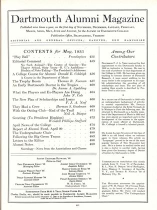 Cover for the May 1931 issue