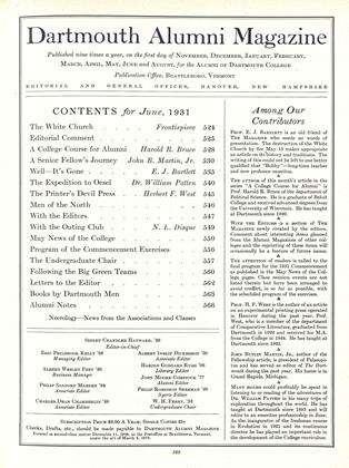 Cover for the June 1931 issue