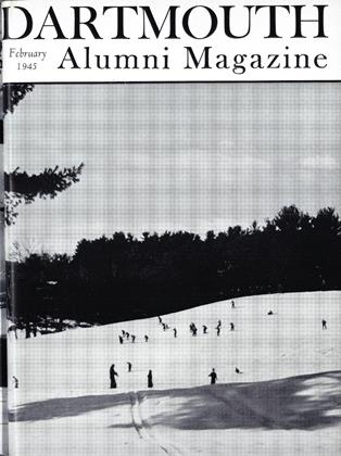 Cover for the February 1945 issue