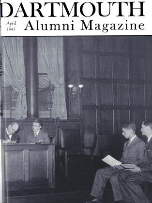 Cover for the April 1945 issue