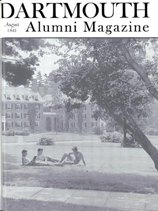 Cover for the August 1945 issue