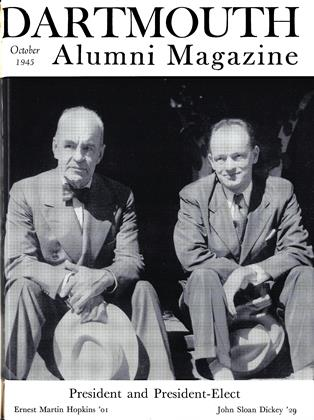 Cover for the October 1945 issue