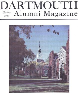 Cover for the October 1947 issue