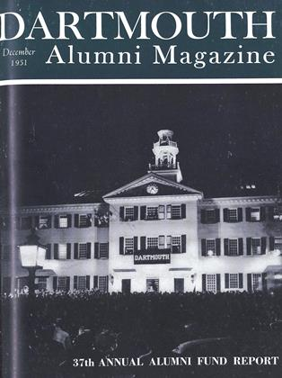 Cover for the December 1951 issue