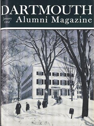 Cover for the January 1952 issue