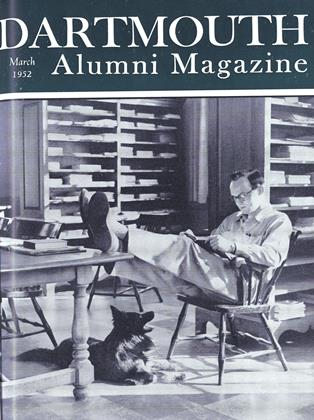 Cover for the March 1952 issue