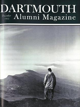 Cover for the December 1952 issue