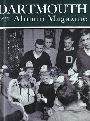 Cover for the January 1954 issue