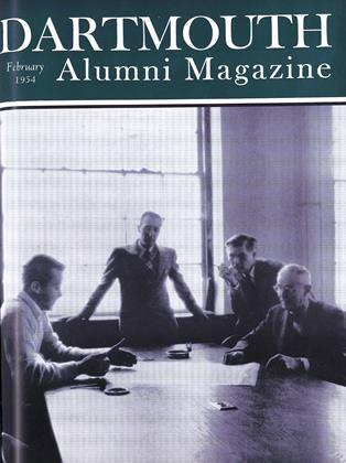Cover for the February 1954 issue