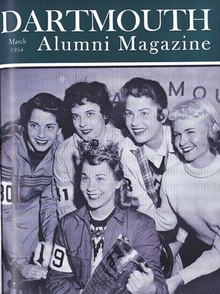 Cover for the March 1954 issue