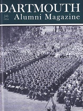 Cover for the July 1954 issue
