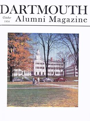 Cover for the October 1954 issue